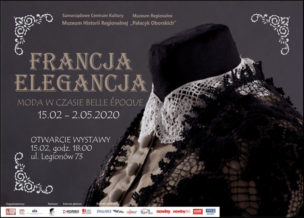 Plakat wystawy Francja elegancja